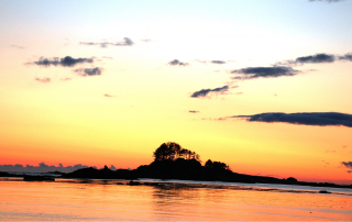 Photo of a Sunset on Vancouver Island. Click Here for Some Things to Do on Vancouver Island.